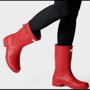 Original Short Matte Buckle Strap Rain Boots